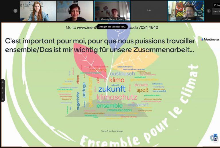 """Erste gemeinsame Videokonferenz: """"Ensemble pour le climat"""""""
